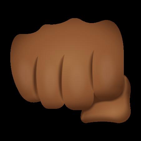 Oncoming Fist Medium Dark Skin Tone icon