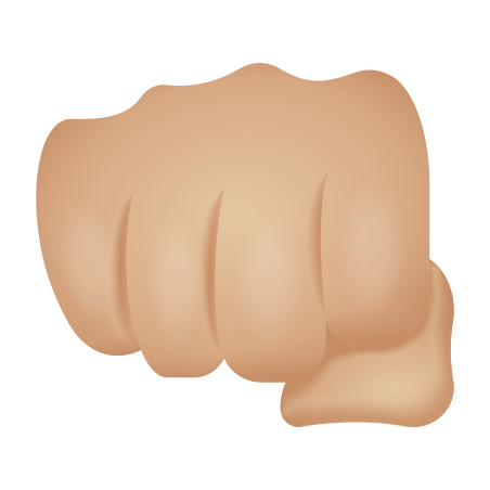 Oncoming Fist Medium Light Skin Tone icon
