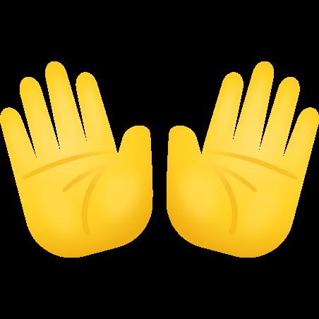 Open Hands icon in Emoji