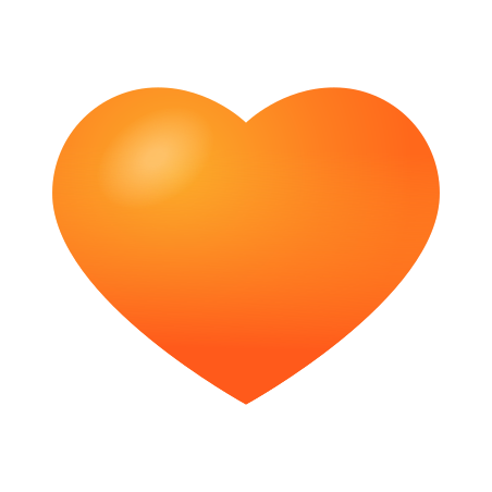 Orange Heart icon