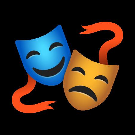 Performing Arts icon in Emoji