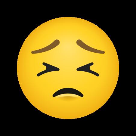 Persevering Face icon in Emoji