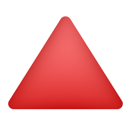 Red Triangle Pointed Up icon