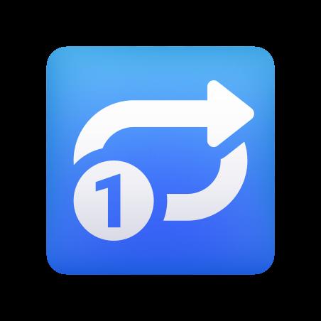 Repeat Single Button icon