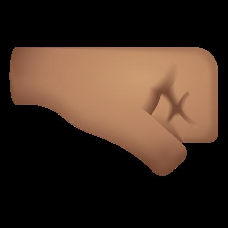 Right Facing Fist Medium Skin Tone icon