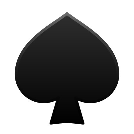 Spade Suit icon in Emoji