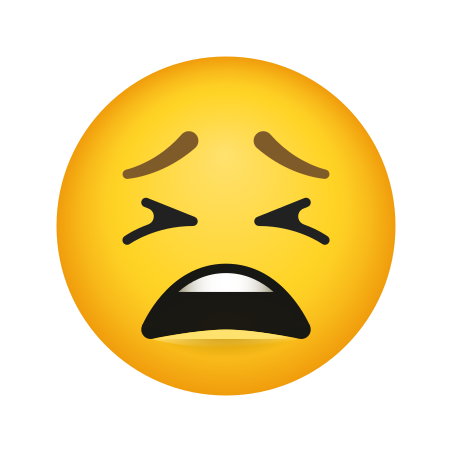 Tired Face icon in Emoji