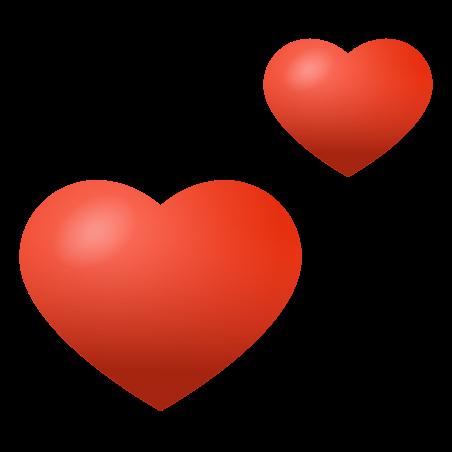 Two Hearts icon in Emoji