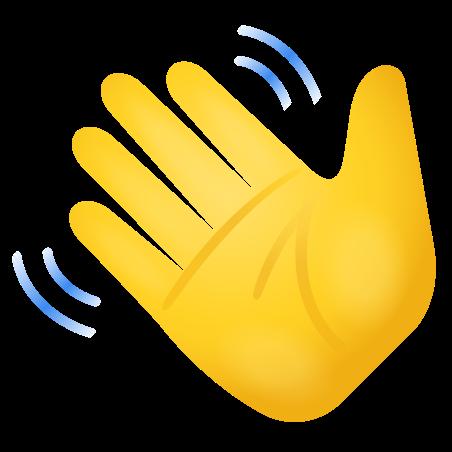 Waving Hand Emoji icon
