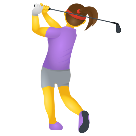 Woman Golfing icon