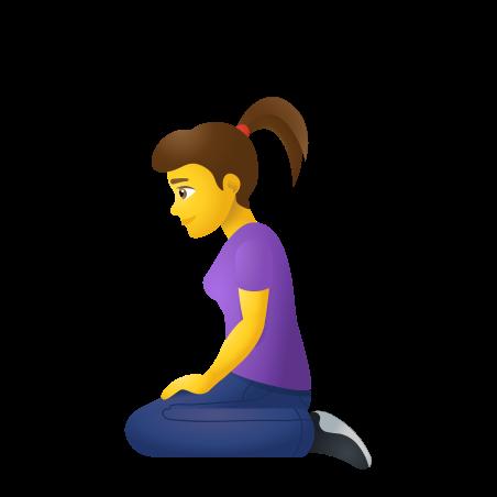 Woman Kneeling icon