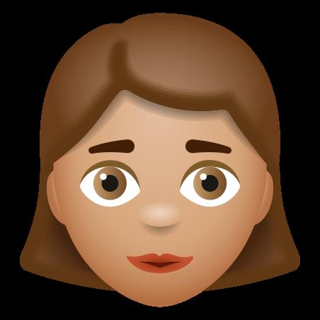 Woman Medium Skin Tone icon in 이모티콘