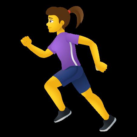 Woman Running icon