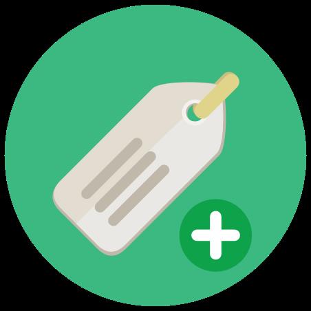 Adicionar etiqueta icon