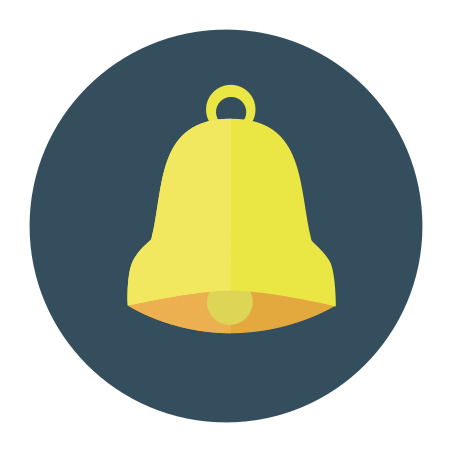 Bell icon in Infographic