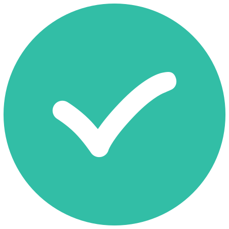 Checkmark icon in Infographic