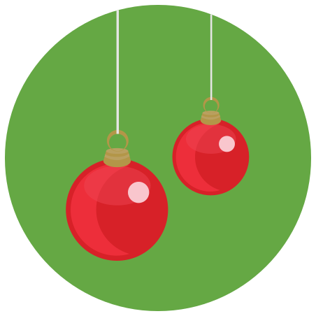 Christmas Ball icon in Infographic