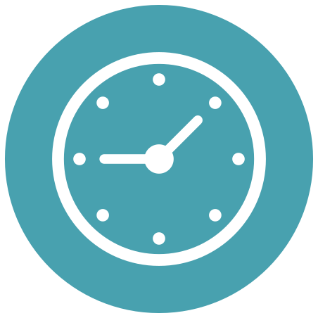 Clock icon in Infographic