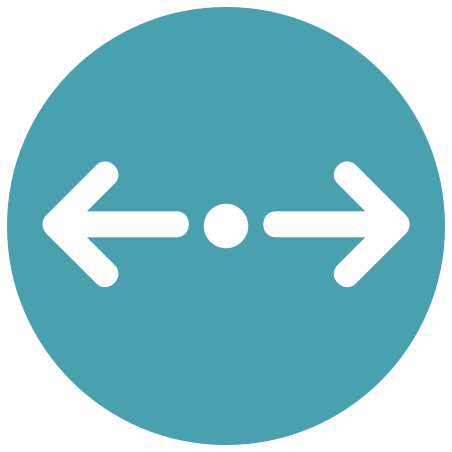 Divide Horizontal Direction icon in Infographic