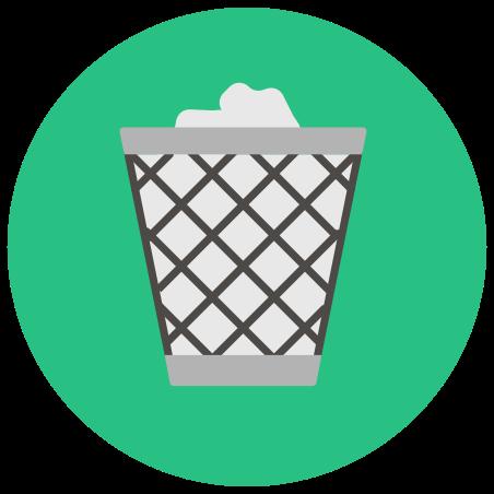 Voller Papierkorb icon