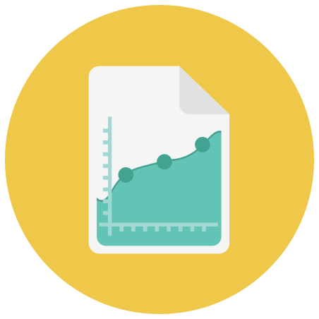 Graph Report icon in Infographic