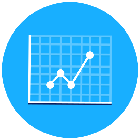 Graph icon in Infographic