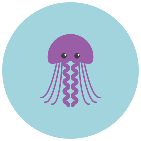Jellyfish icon in Infographic