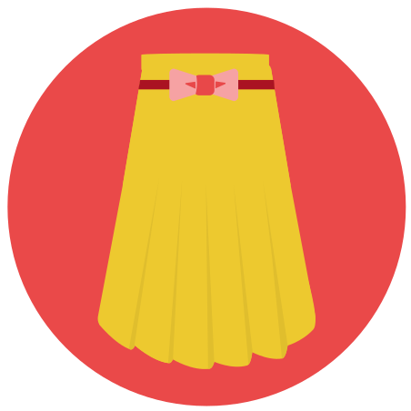 Long Skirt icon in Infographic