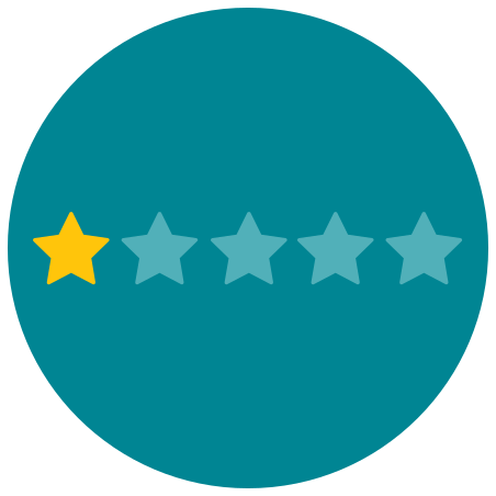 One of Five Stars icon in Infographic