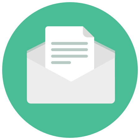 Open Envelope icon in Infographic