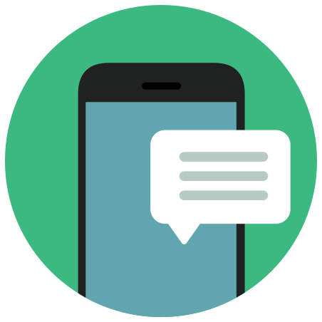 Phone Message icon in Infographic