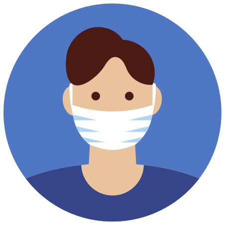 Protection Mask icon in Infographic