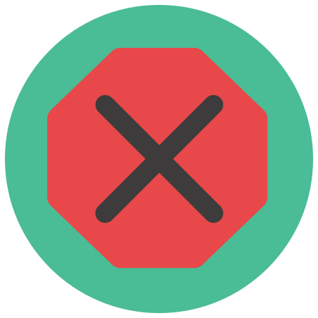 Stop Sign icon in Infographic