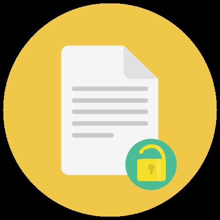 Unlock Document icon