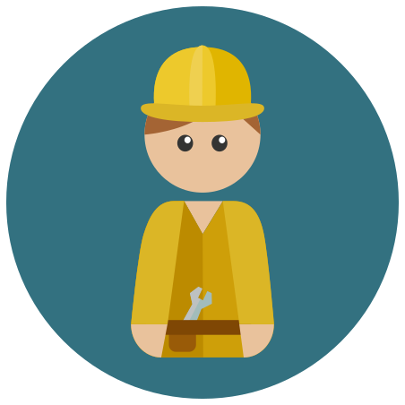 Worker icon in Infographic
