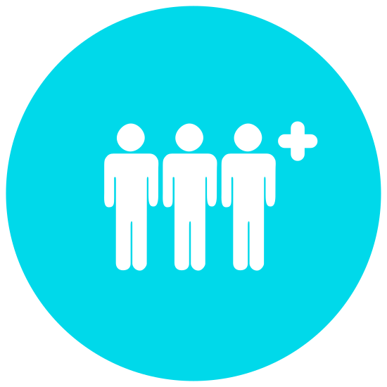 Add User Group Man Man icon. It is an icon with the outline of two male heads, necks and shoulders. One is in front while the second is in the back. There is a circle to the right with a cross in the center which depicts adding a user to the group Man Man.