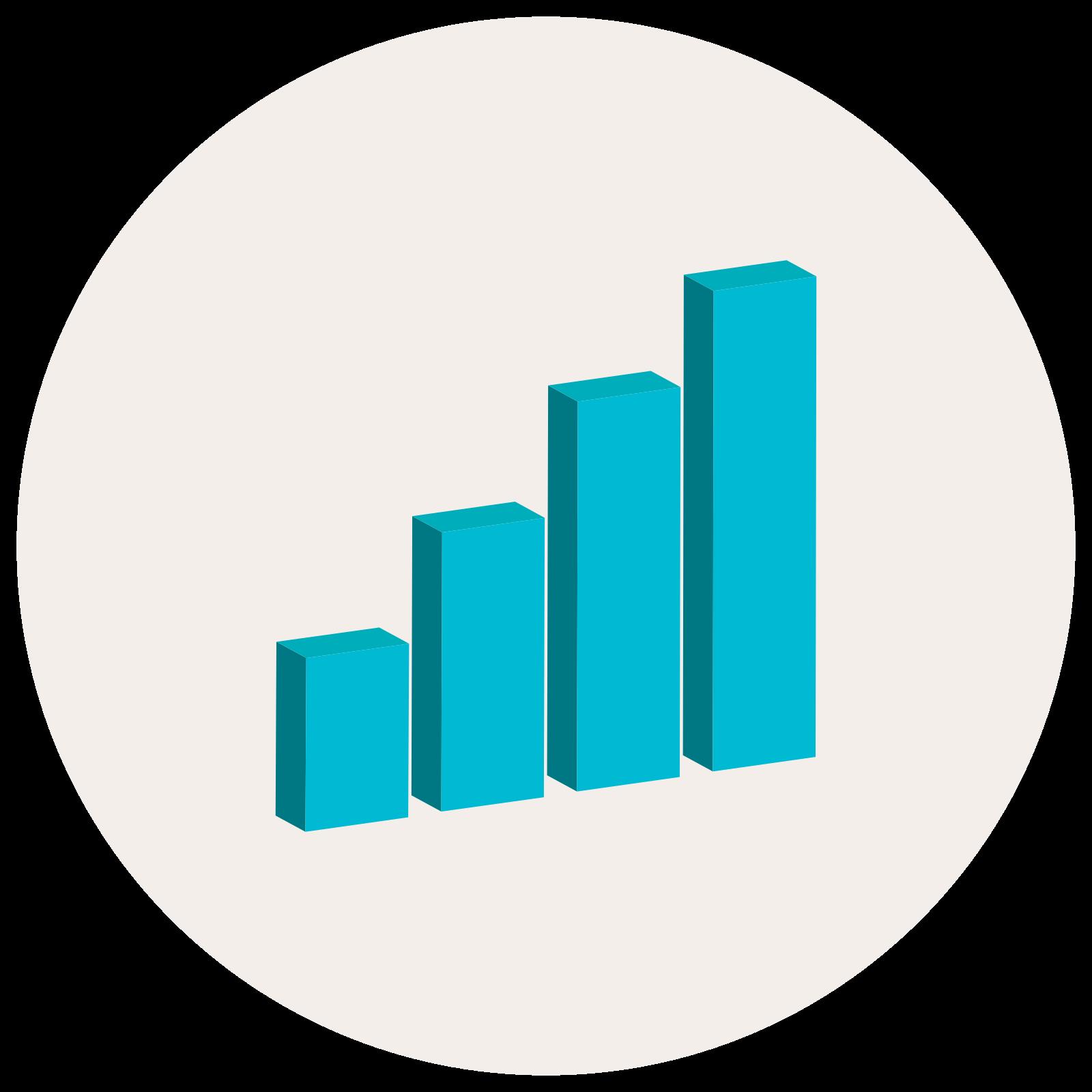Bar Chart 3D icon
