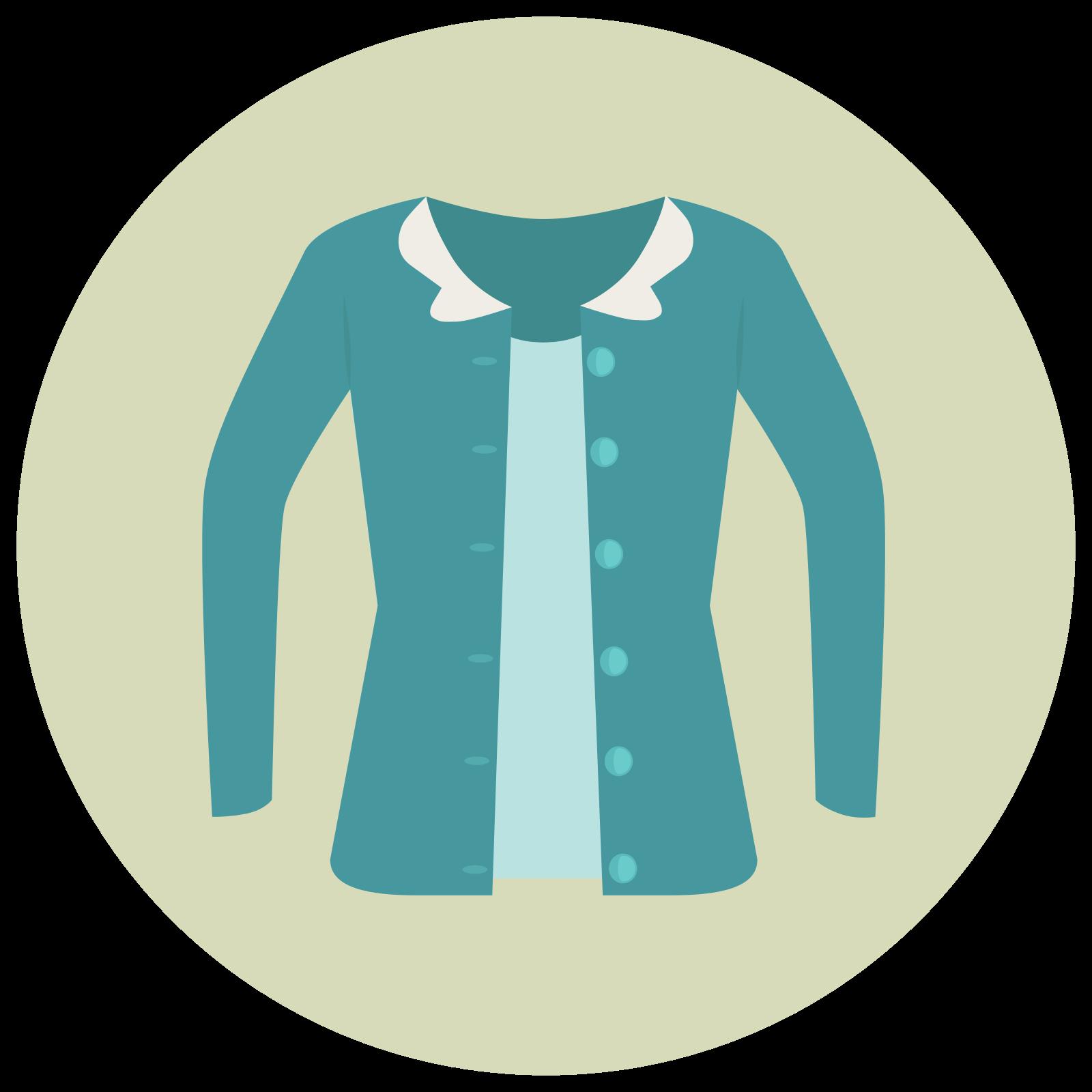 Sweter kardigan icon