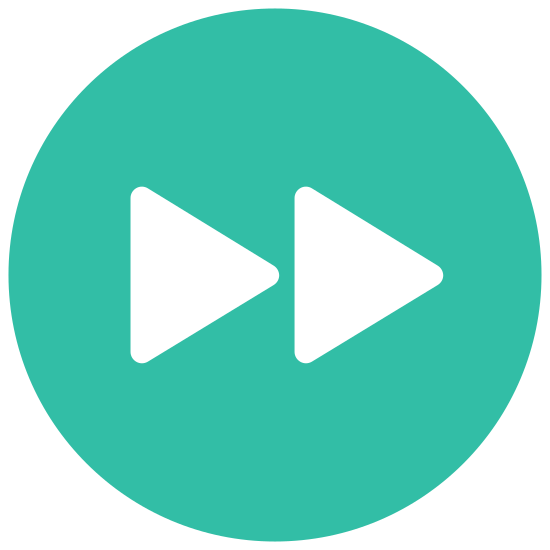 Fast Forward icon. The icon shows a button that would toggle a video player. It has a two arrows side-by-side both pointing to the right, which would indicate a button to fast forward the video.