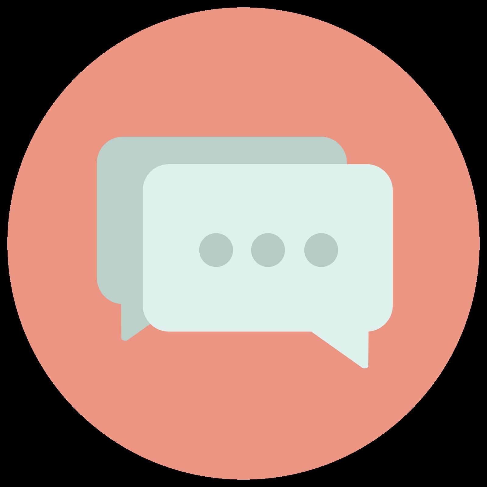 Wypełniona Chat icon