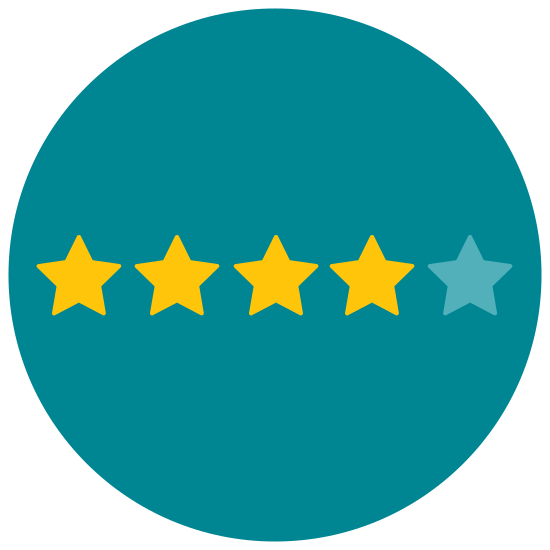 Four of Five Stars icon