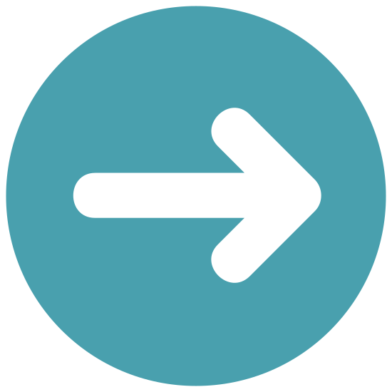 Right icon. This icon consists of an arrow pointing to the right. It is simply one horizontal line, with two lines at angles making a point at the right end of the line.