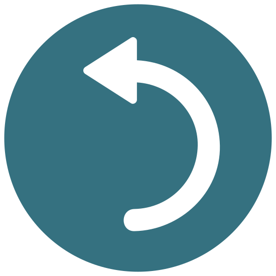 Rotate Left icon. The icon Rotate Left is a circle. It starts on the left side at the bottom with seven lines that start small and get longer. The eighth line is the longest and continues all the way around ending with an arrow.