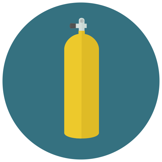 Scuba Tank icon. This is a bottle, the bottle holds a small amount of liquid. You can store wine as it has a cork top you can put back in the bottle to keep the liquid fresh. Most of bottles like this contain wine.