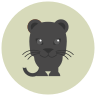 Jaguar preto icon