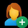 Add User Female icon
