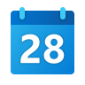 Calendar 28 icon