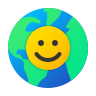 Earth Smiley icon
