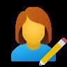 Modifica utente donna icon