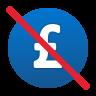 No Hidden Fee British Pound icon